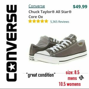 CONVERSE ALL STAR CORE OX LOW TOP CHUCKS